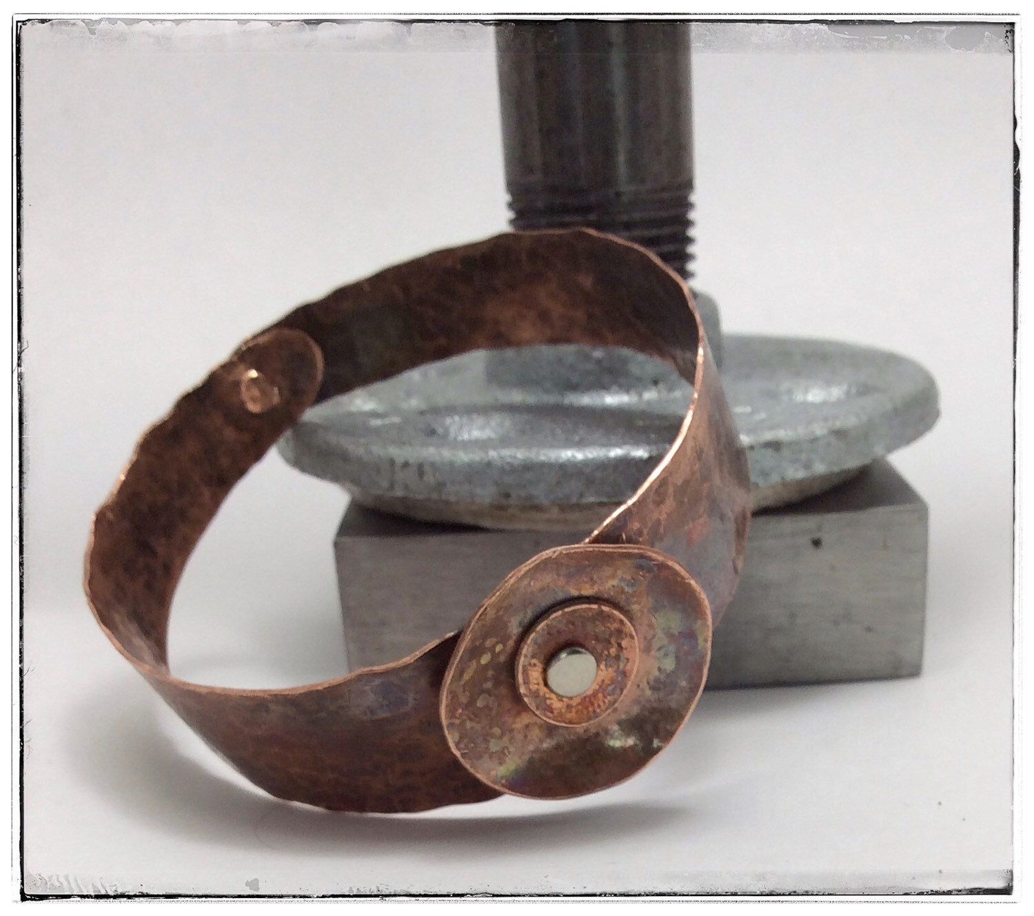 A personal favorite from my Etsy shop https://www.etsy.com/listing/251721358/organic-copper-bangle-bracelet