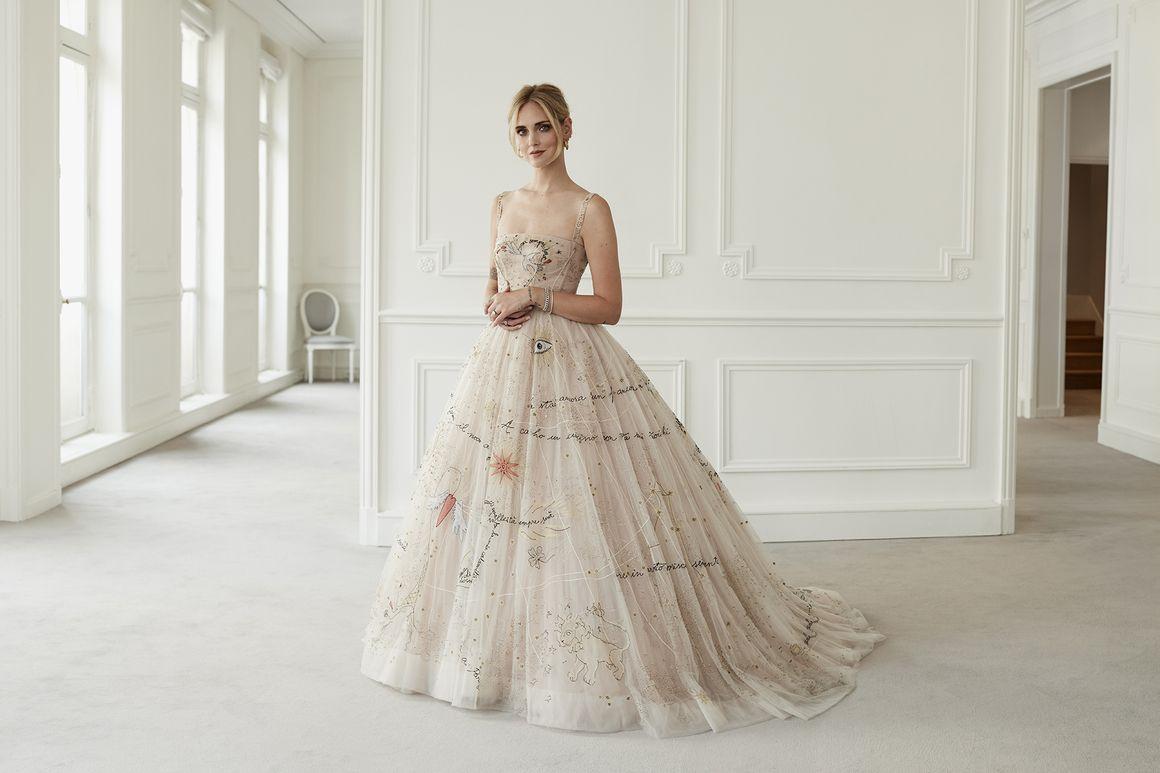 Dior wedding dresses  La robe de party girl Dior haute couture de Chiara Ferragni pour son