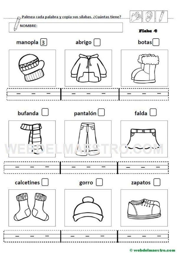 10 Ideas De Separación De Sílabas Silabas Lectura Y Escritura Contar Silabas