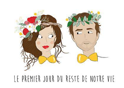 Fairepart Mariage Announcement Wedding Papeterie