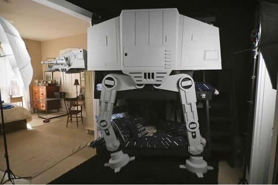 Great Jonathan, A Huge Star Wars Fan, Spent Months Building A Bunk Bed Shaped  Like · Kids RoomsBoy ...