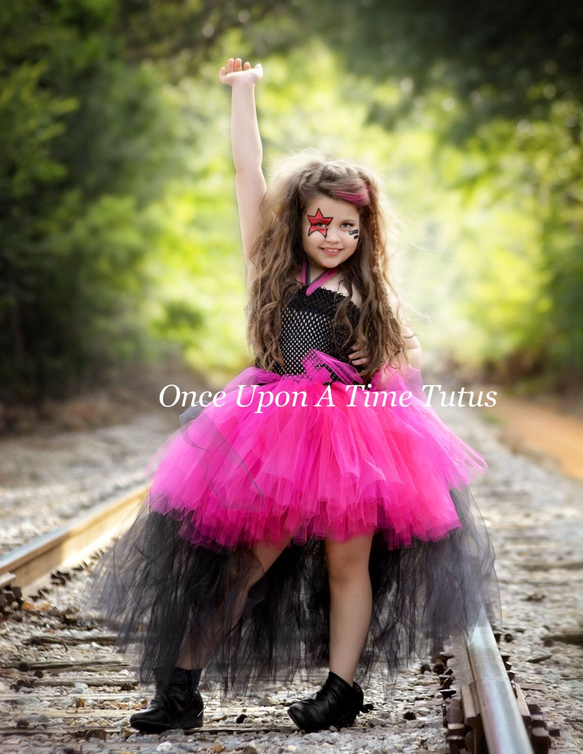 e77a2957e Rockstar Queen Tutu Dress - Birthday Outfit, Photo Prop, Halloween Costume  - Girls Size 2T 3T 4T 5 6 7 8 10 12 - Little Girls Dress Skirt by ...