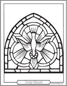 Confirmation Symbols Descent Of The Holy Ghost Catholic Coloring Holy Spirit Dove Catholic Symbols