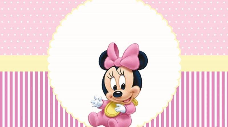 Minnie Baby Kit Festa Infantil Gratis Para Imprimir Minnie