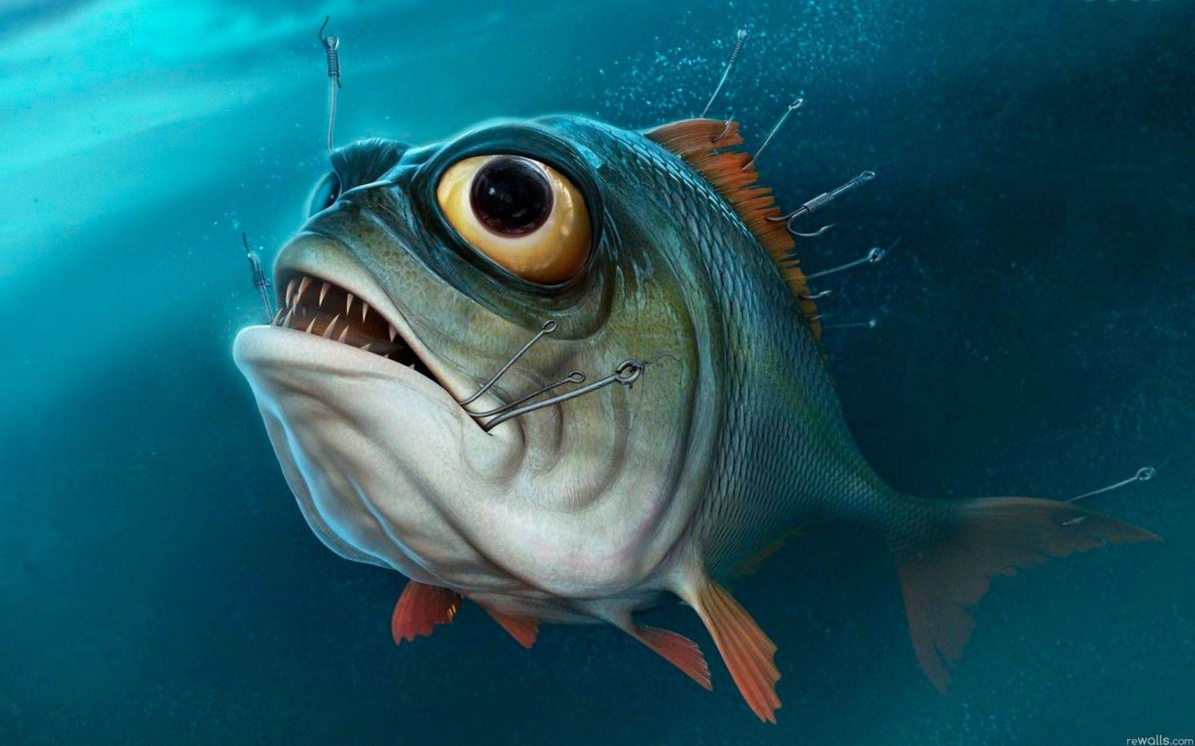 Юмористическая картинка рыбы