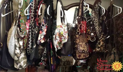 Using Hangers For Handbag Storage {featured On Home Storage Solutions 101}