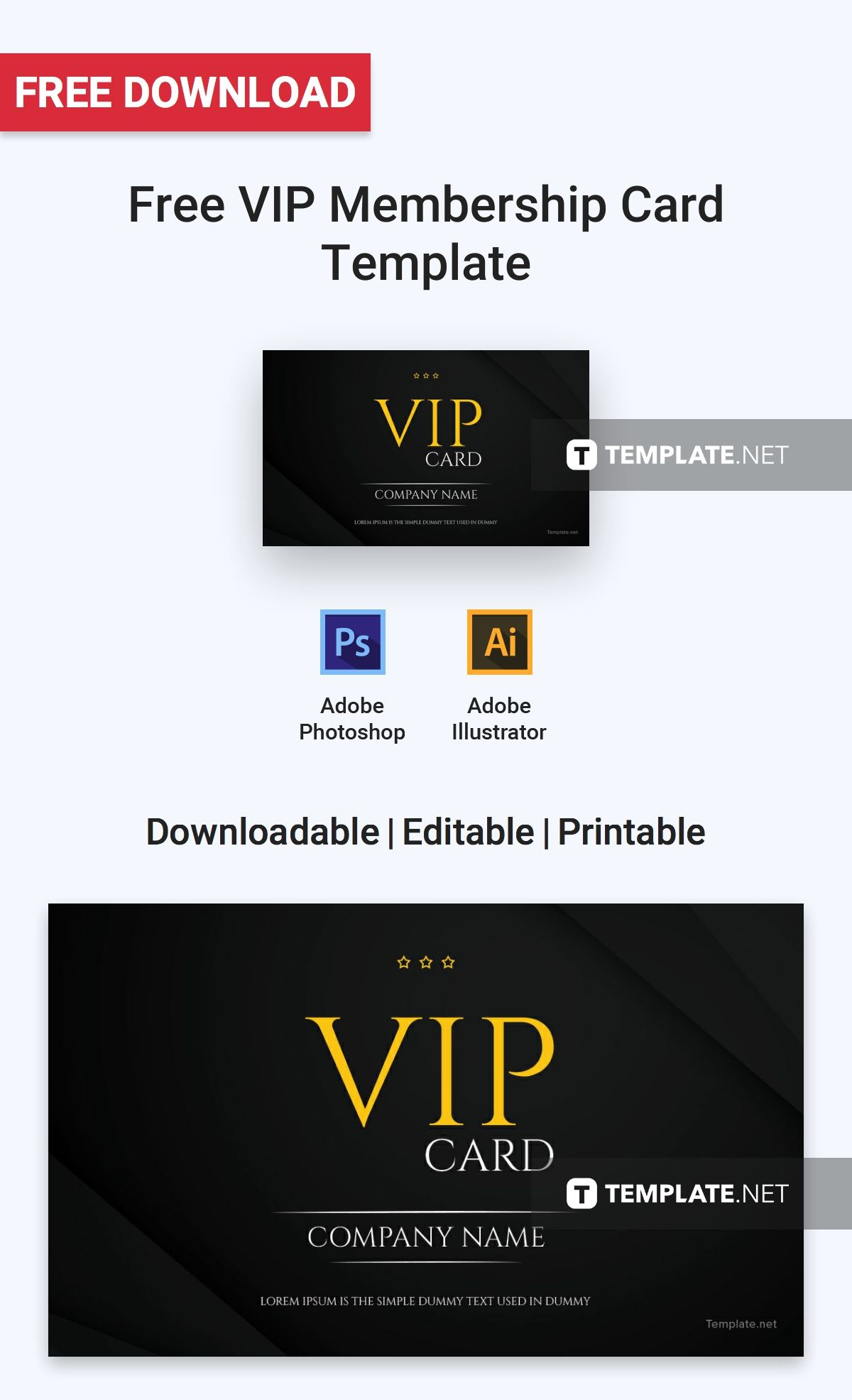 Free Vip Membership Card Template Word Doc Psd Apple Mac Pages Illustrator Publisher Membership Card Vip Card Cards