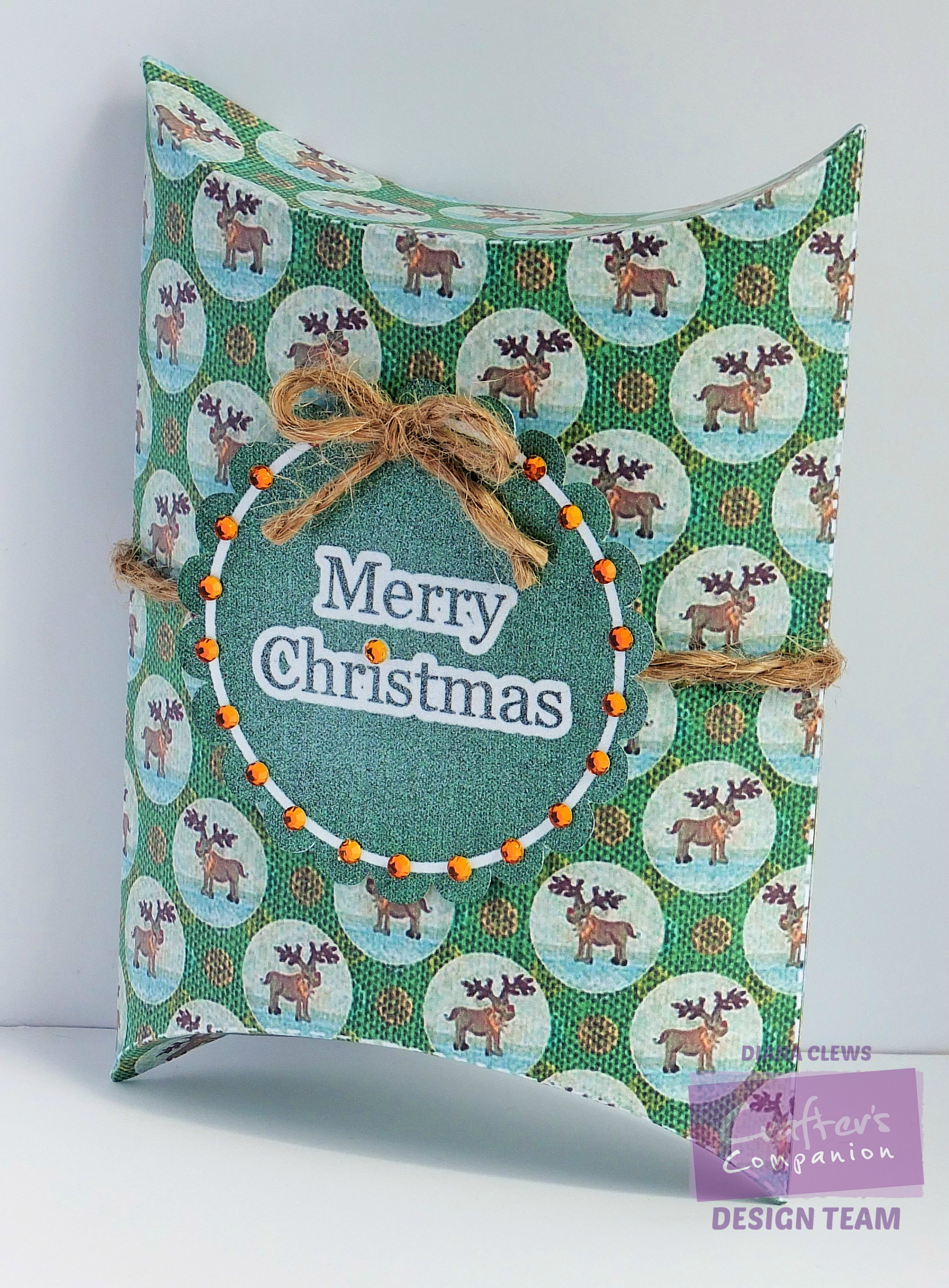 Diana clews table favour pillow box romany christmas cd u design