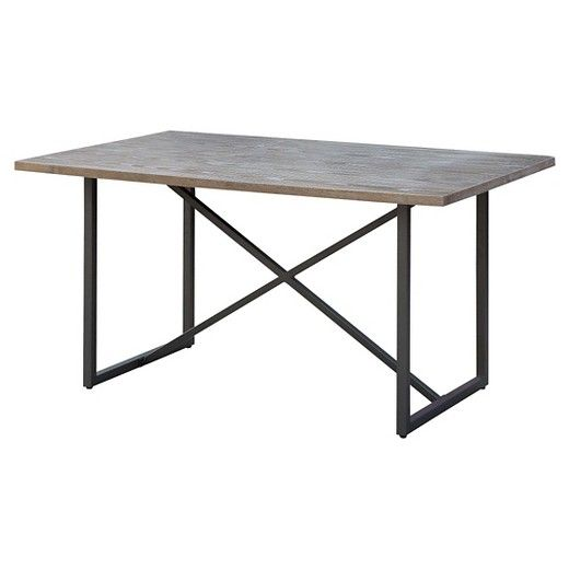 Payless Furniture Store Dining Room Tables: Wynnefield Mixed Material Trestle Dining Table