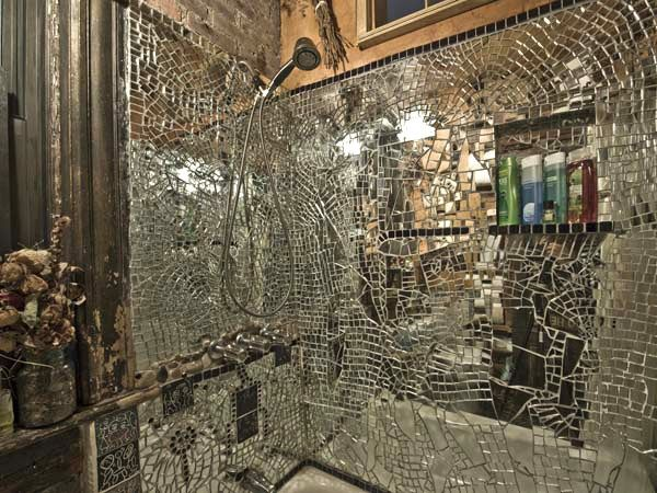 shattered mirror ceiling home