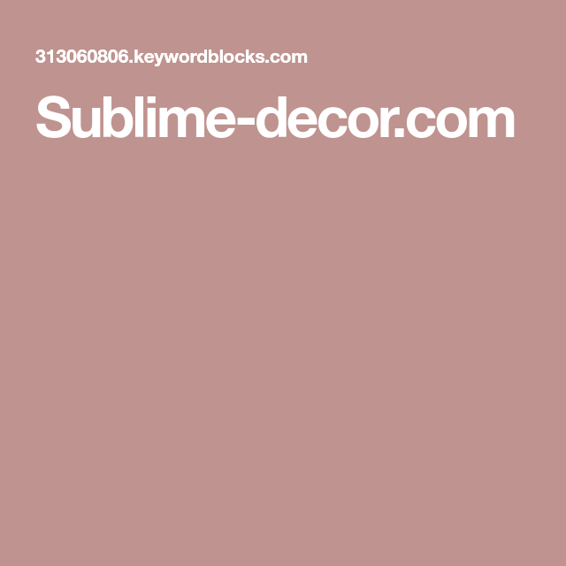 Interior Design Courses, Sublime