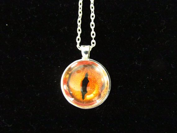 Dragon Eye Pendant Necklace by EverythingsDuckyBout on Etsy, $9.99