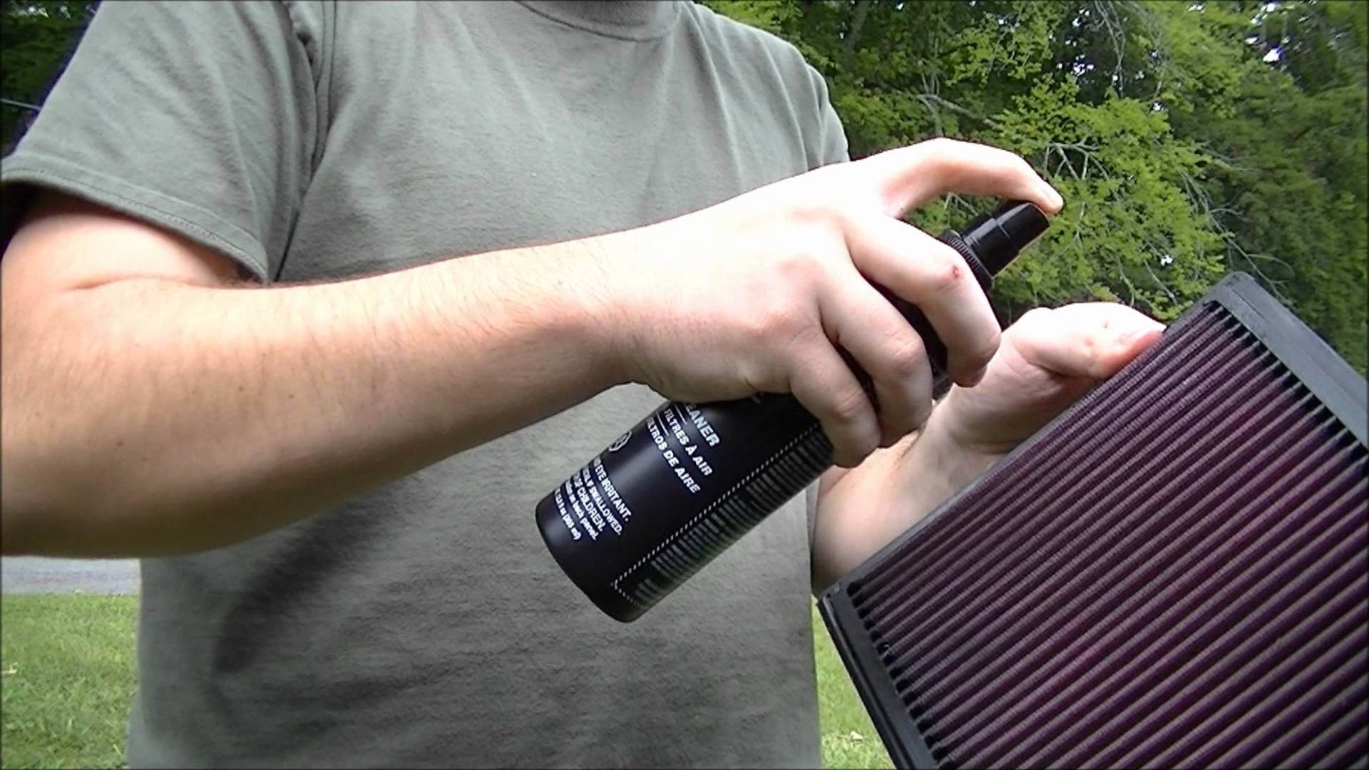 How to clean your K&N dropin filter using the K&N
