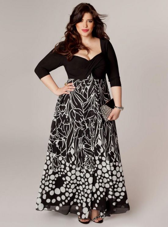 plus size maxi dresses with 3/4 sleeves 2016-2017 » B2B Fashion ...