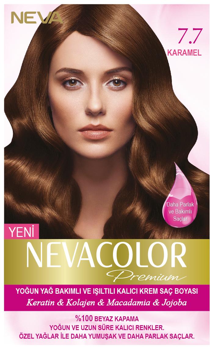 Nevacolor Premium 7 7 Karamel Kalici Krem Sac Boyasi Seti