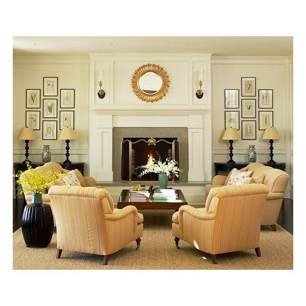 Living Room Furniture Arrangement Tables On Each Side Of Fire Place