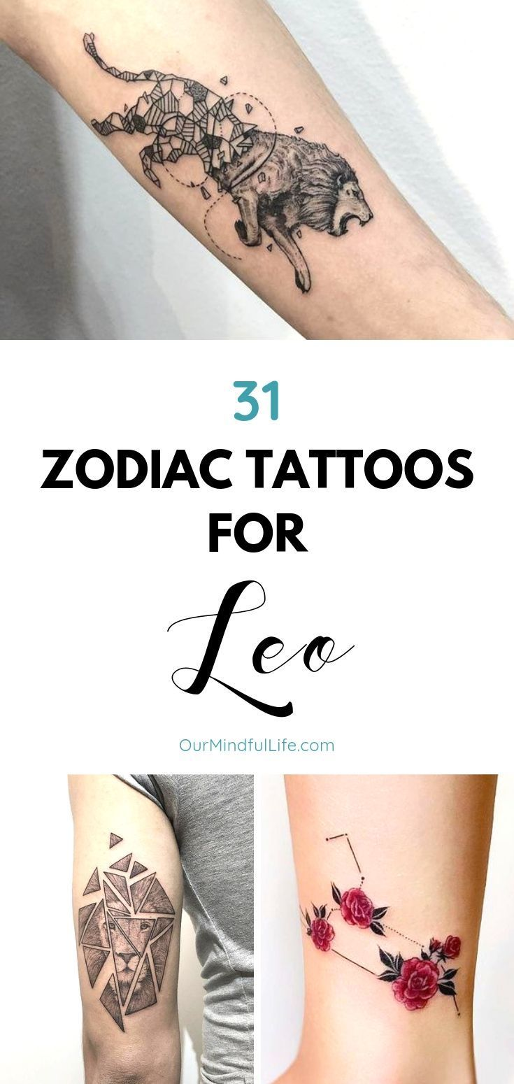 61 Leo Tattoos To Showcase Your Pride Of Being A Lion