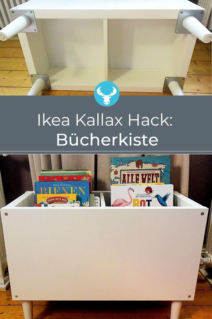 Ikea Kallax Buecherkiste Hack #kinderzimmerdeko