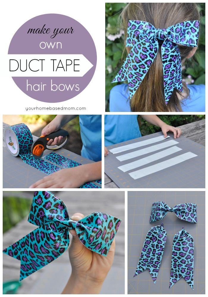 Duct Tape Hair Bows Activity Day Idea Duct Tape Bows Duck