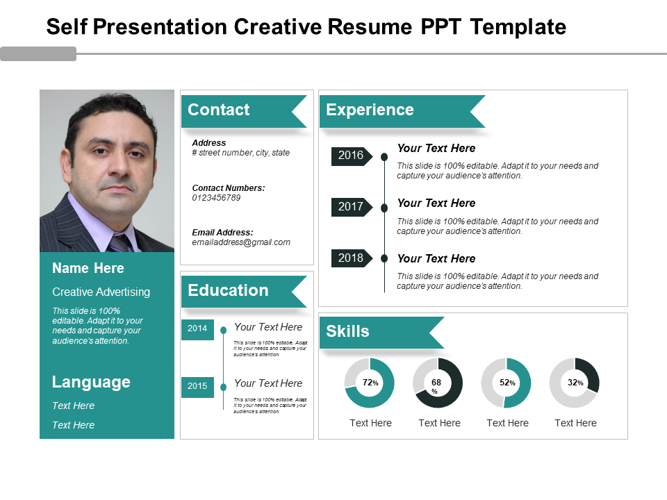 one page ppt resume template