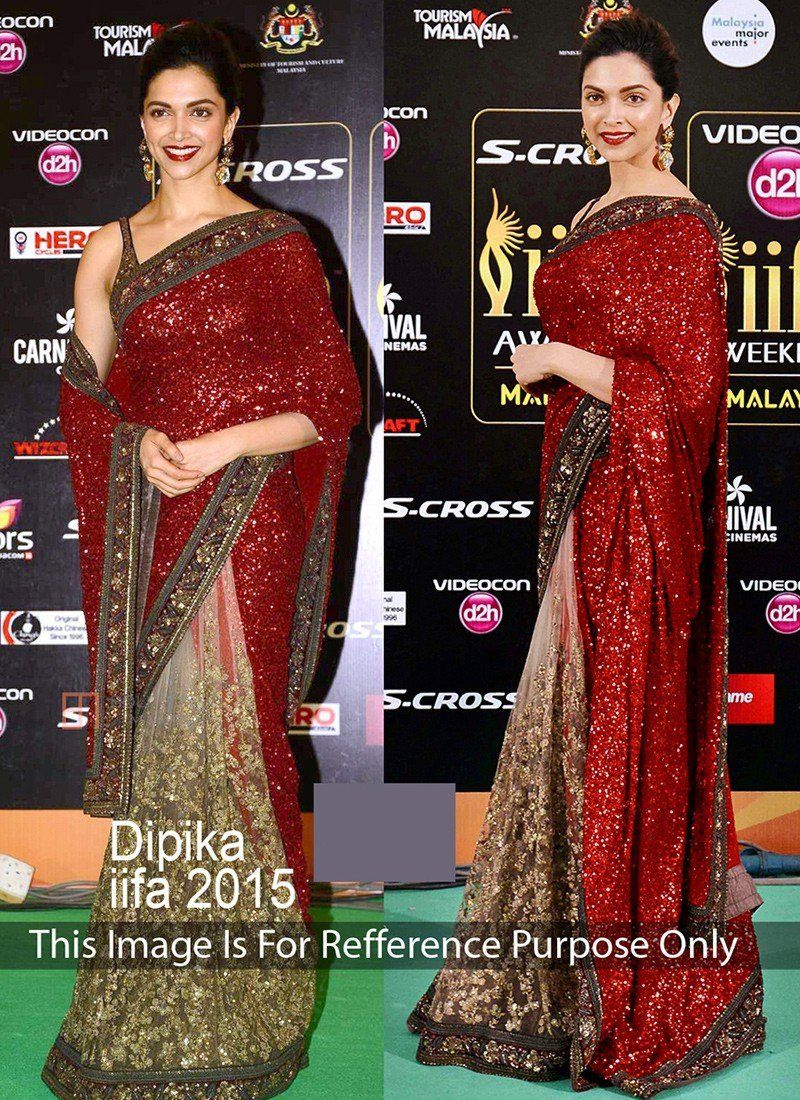 466ad56e37 Gold Maroon Georgette Net Designer Sarees #party wear #bollywood saree