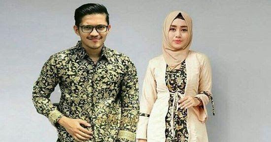 Model Baju Gamis Batik Kombinasi Polos Blazer Sifon Brokat Dan