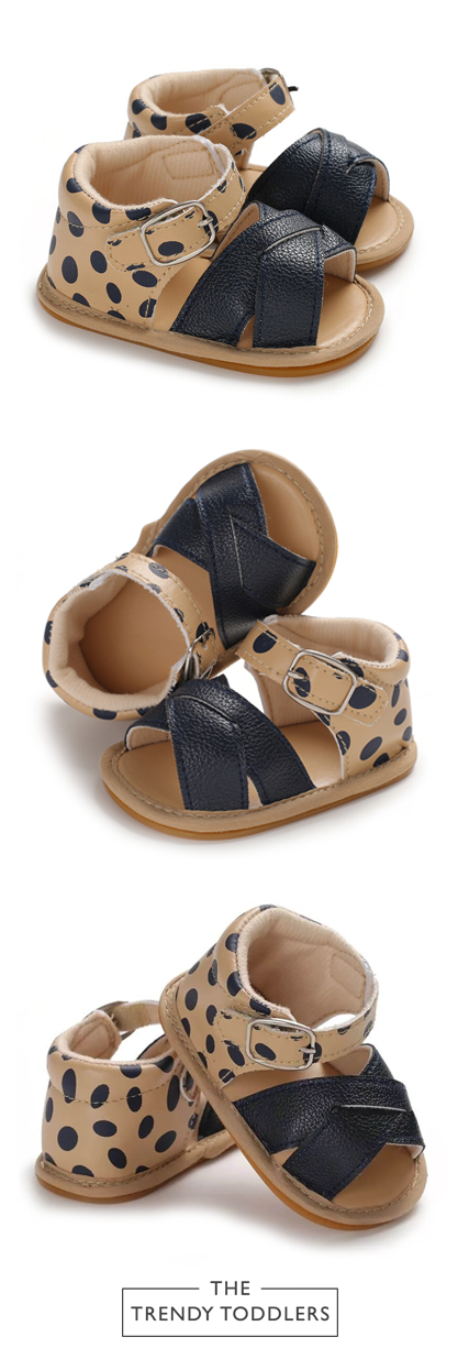 Baby Girl Leather Leopard Sandals in