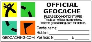 graphic regarding Official Geocache Printable identify printable geocache labels - Google Glimpse Geocaching