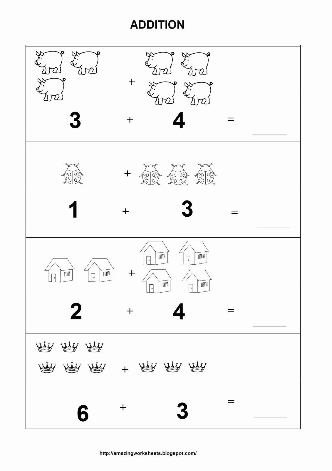 Pin On Kindergarten Addition Worksheets