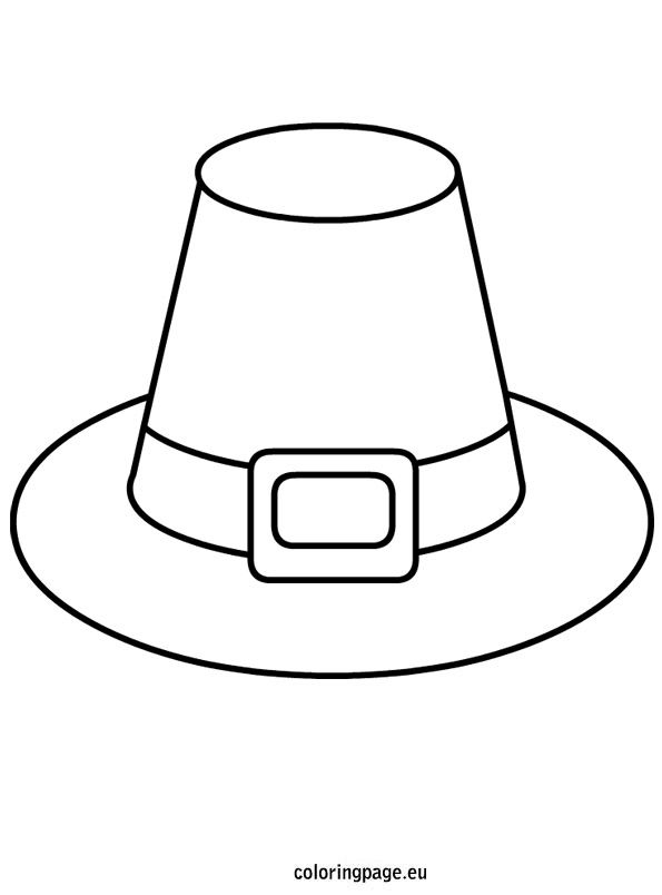 Pilgrim Hat template | Coloring | Pinterest