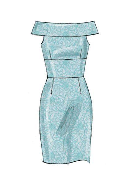 Patron Mc Calls 7719 Robes de soirée pour dames (de 34 à 50)