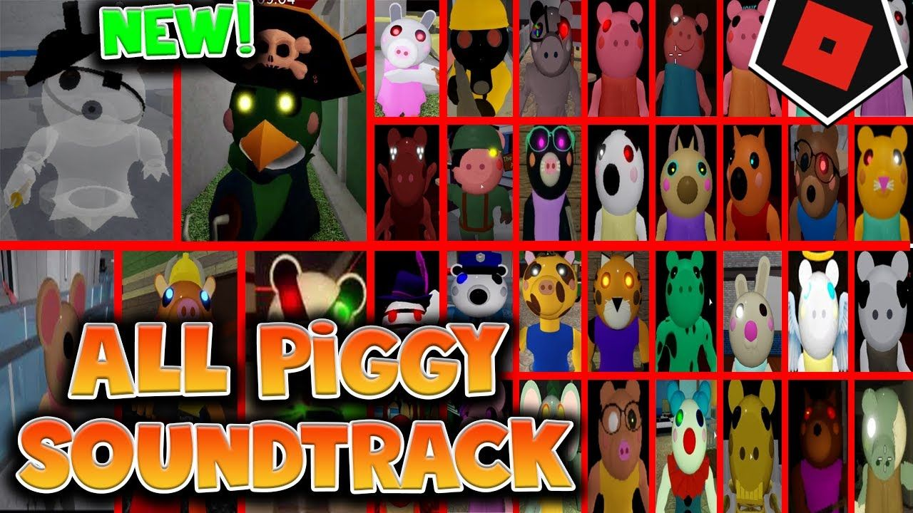 Roblox Piggy All Soundtracks New Update Budgey And Ghosty Characters Skins Piggy Roblox In 2020 Roblox Soundtrack Roblox Pictures