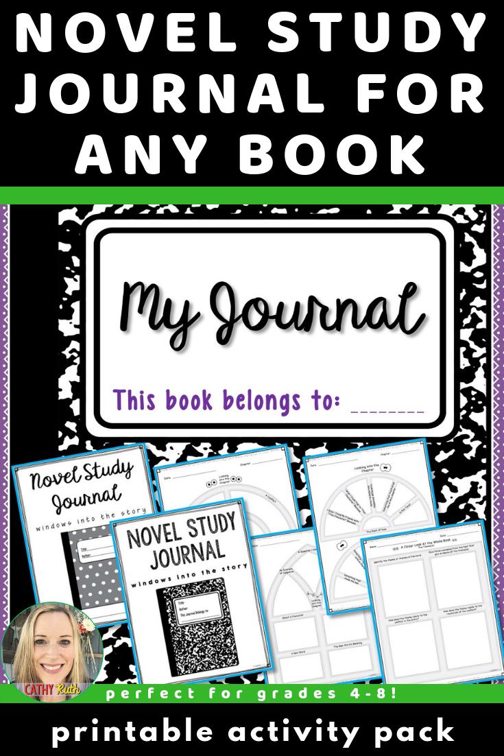 Novel Study Journal Generic Literary Analysis Paper Version For Any Book Novel Studies Teaching Reading Skills Study Journal