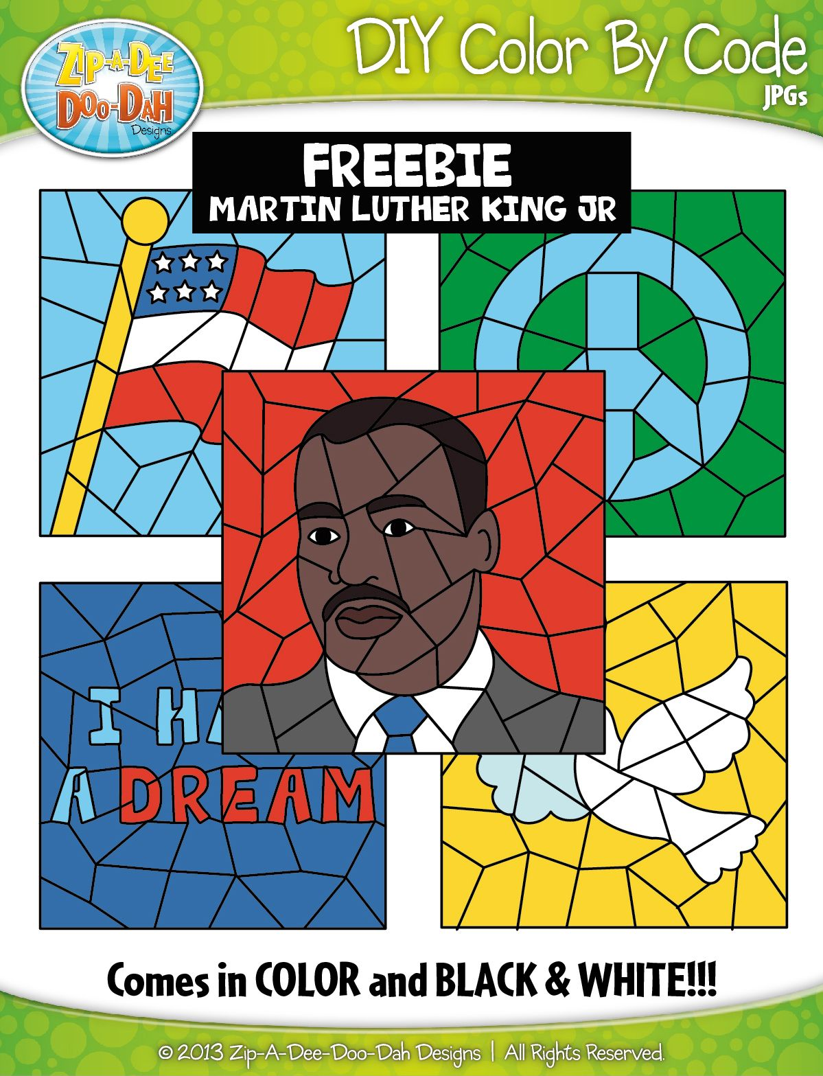 Free Martin Luther King Jr Create Your Own Color By Code