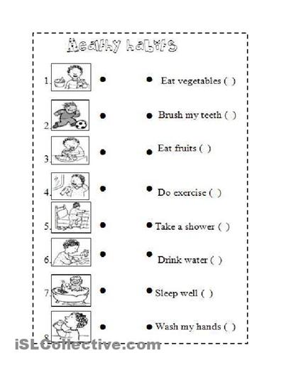 Healthy Habits Worksheet Buscar Con Google Healthy Habits For Kids Worksheets For Kids Healthy Habits
