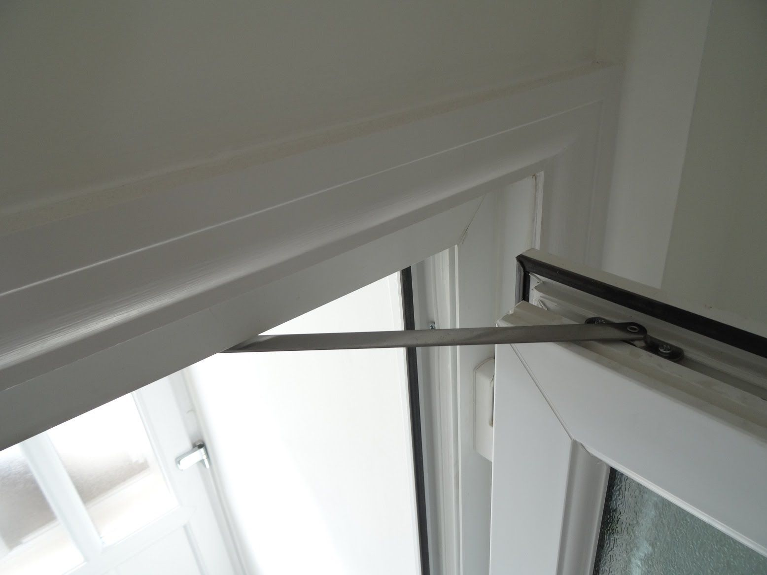 How To Fit A Upvc Door Restrictor To Stop A Door Slamming Shut Or Bumping Into A Wall 30888104 Choosing A French D French Doors Interior Door Slam French Doors