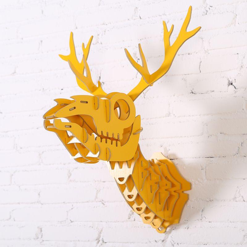 Skeleton animal wood wall art crafts, animal wall art wall ...