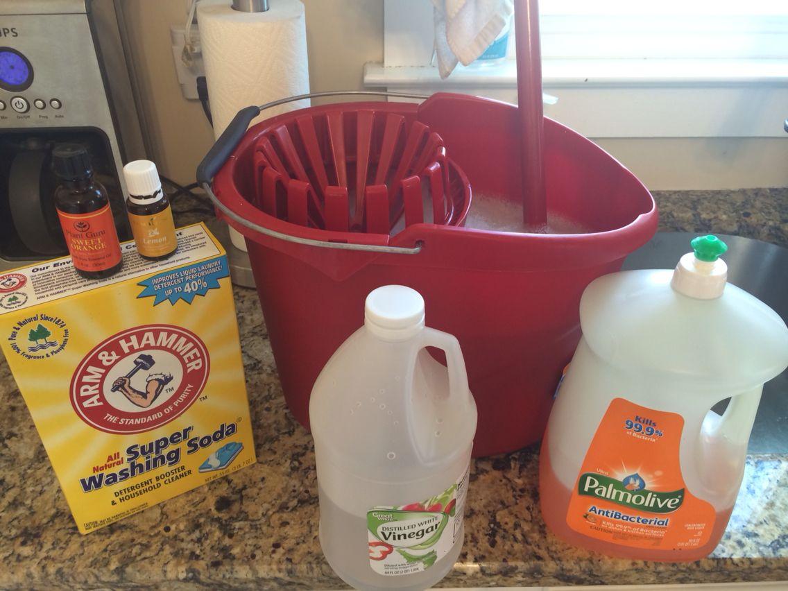 Homemade heavy duty floor cleaner...1 cup white vinegar, 1