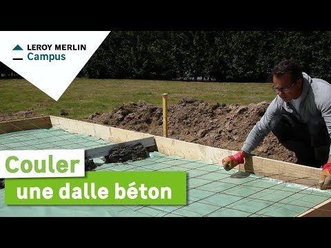 R aliser une chape pour un garage une terrasse ou couler - Dalle en beton pour abri de jardin ...