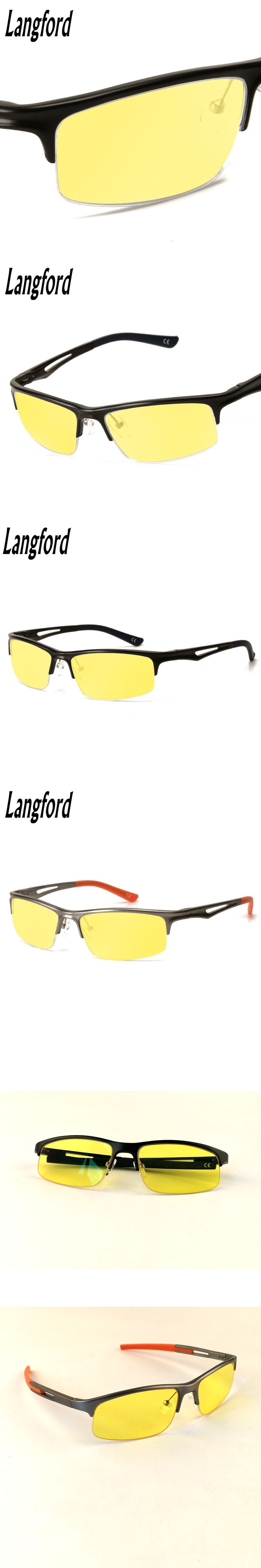 0bc4be5ce7 Langford Anti Blue Rays Computer Goggles Reading Glasses Spring legs mens  eyeglasses cool Gaming Glasses Protection