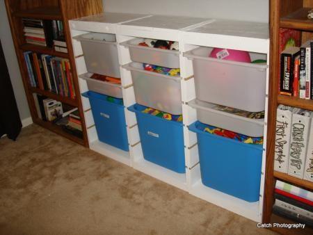 Ikea Trofast Toy Bin Storage Hacked Playroom Project 1 Diy Toy Storage Ikea Trofast Diy Storage