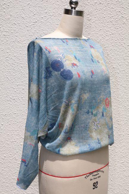 Einfaches Shirt mit U-Boot-Ausschnitt   Kimono-stil, Gratis ...