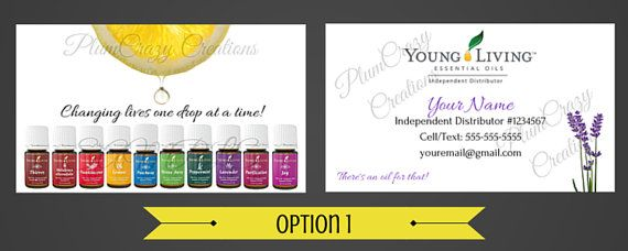 young living business cards
