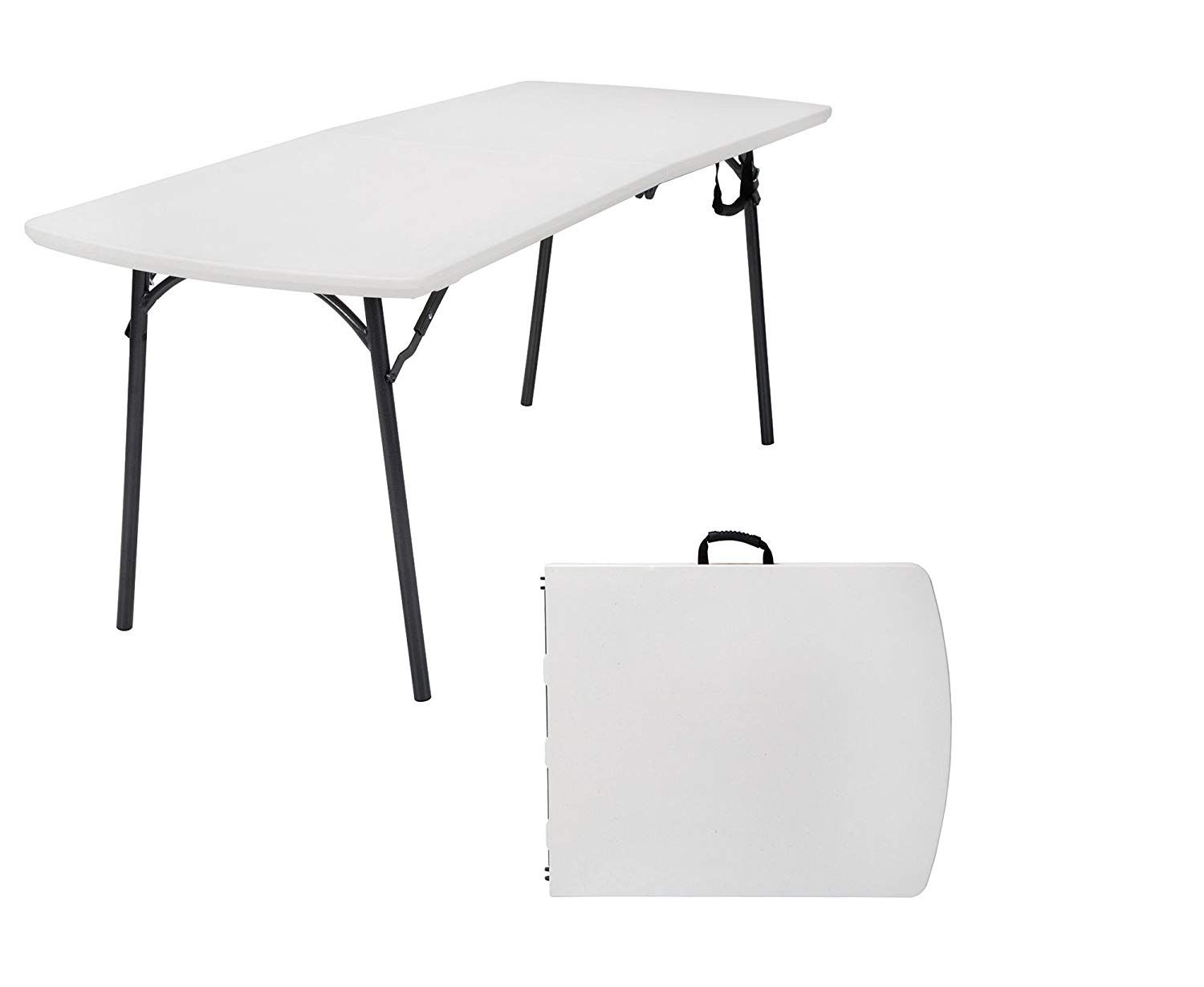 2//4//6FT Folding Table Picnic Camping BBQ Party Banquet Market Garden Portable UK