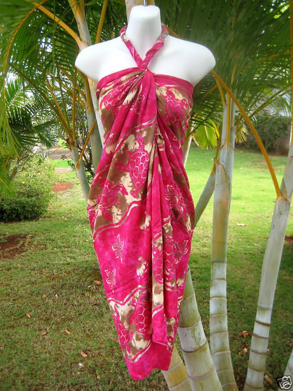 New Hawaii Sarong Pareo Tropical Cruise Beach Pool  Bikini Cover-Up Wrap Dress