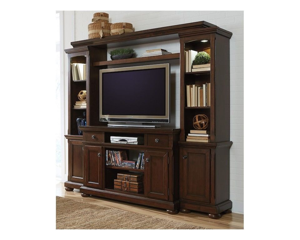 Traditional 4 Pc Entertainment Wall   Sam Levitz Furniture