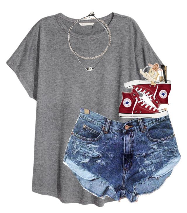 """""""happy labor day;)"""" by classynsouthern ❤ liked on Polyvore featuring Converse, Michael Kors, Guerlain, Majorica, BaubleBar, Giorgio Armani, Finesse and Kendra Scott"""