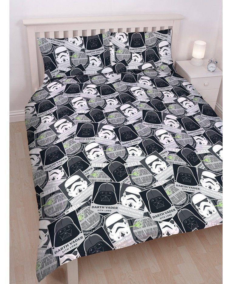 Star Wars Classic Single Panel Duvet Cover Bed Set Jedi Luke Vs Darth Vader Gift