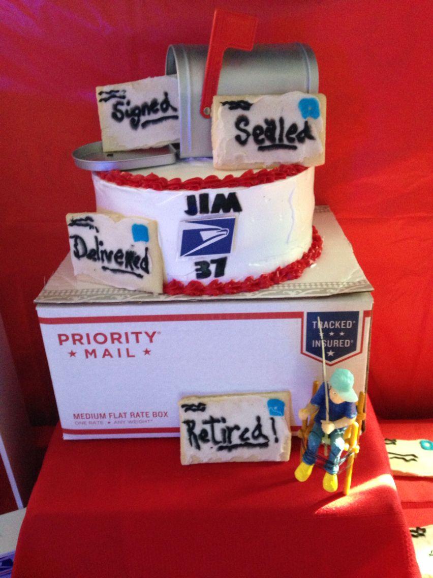Post office retirement cake Cakes Pinterest Retirement cakes