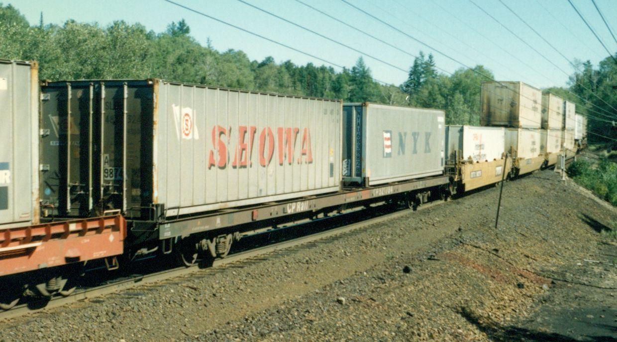 Image result for container on flatcar